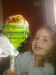 Mias\' favourite a lollipop