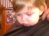 Starting the hair cut