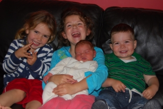 Samuel with his Sisters and Brother